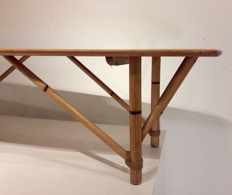 couchtisch aus holz bambus 1950er bei pamono kaufen. Black Bedroom Furniture Sets. Home Design Ideas