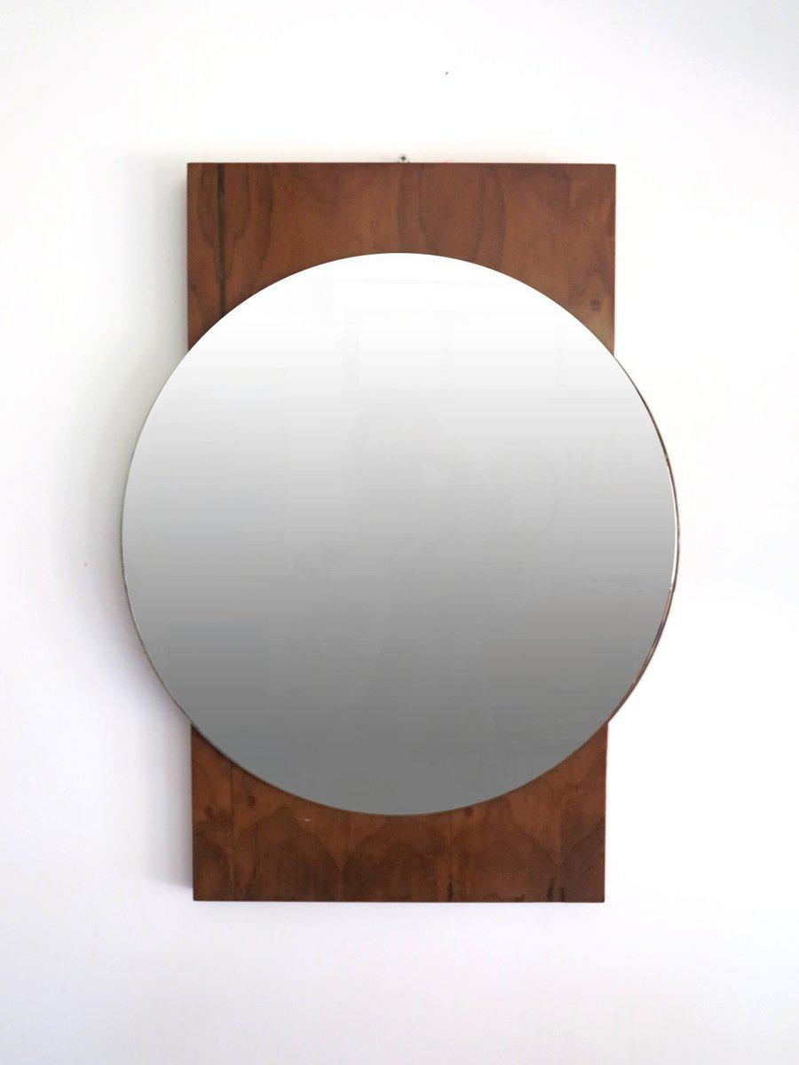 Gro Er Runder Spiegel runder teak spiegel 1960er bei pamono kaufen