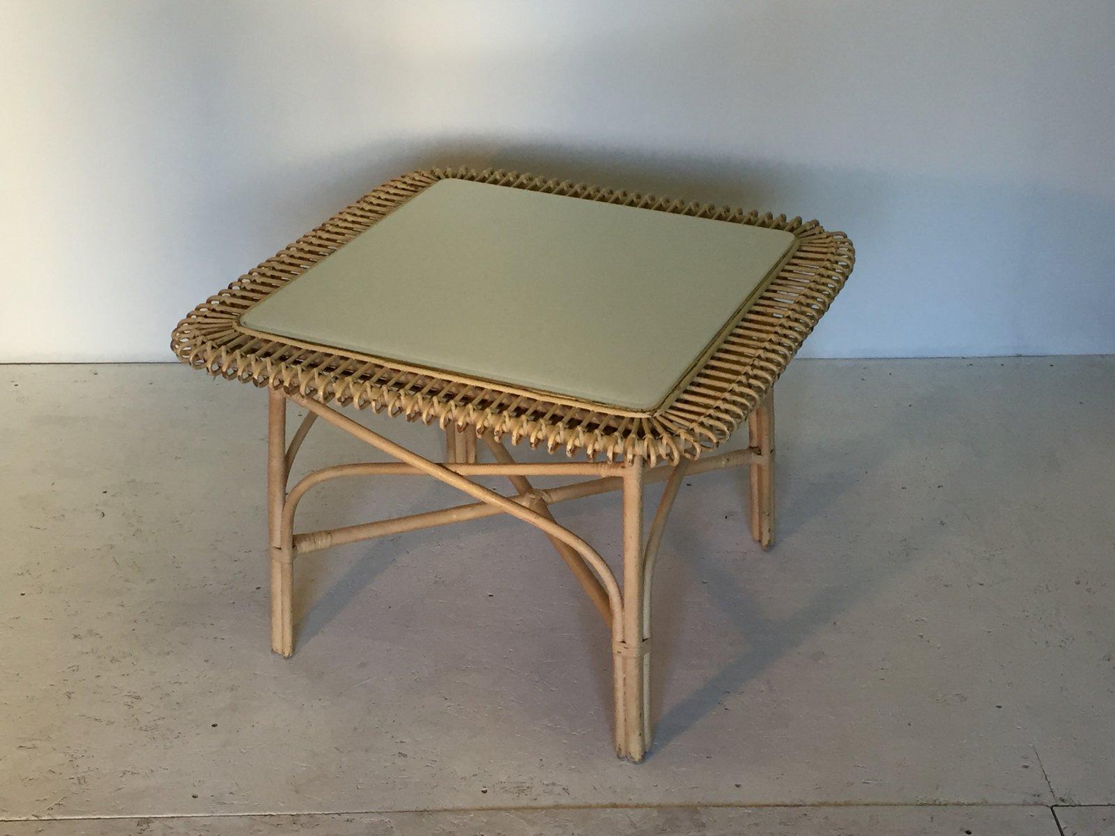 rattan couchtisch 1950er bei pamono kaufen. Black Bedroom Furniture Sets. Home Design Ideas