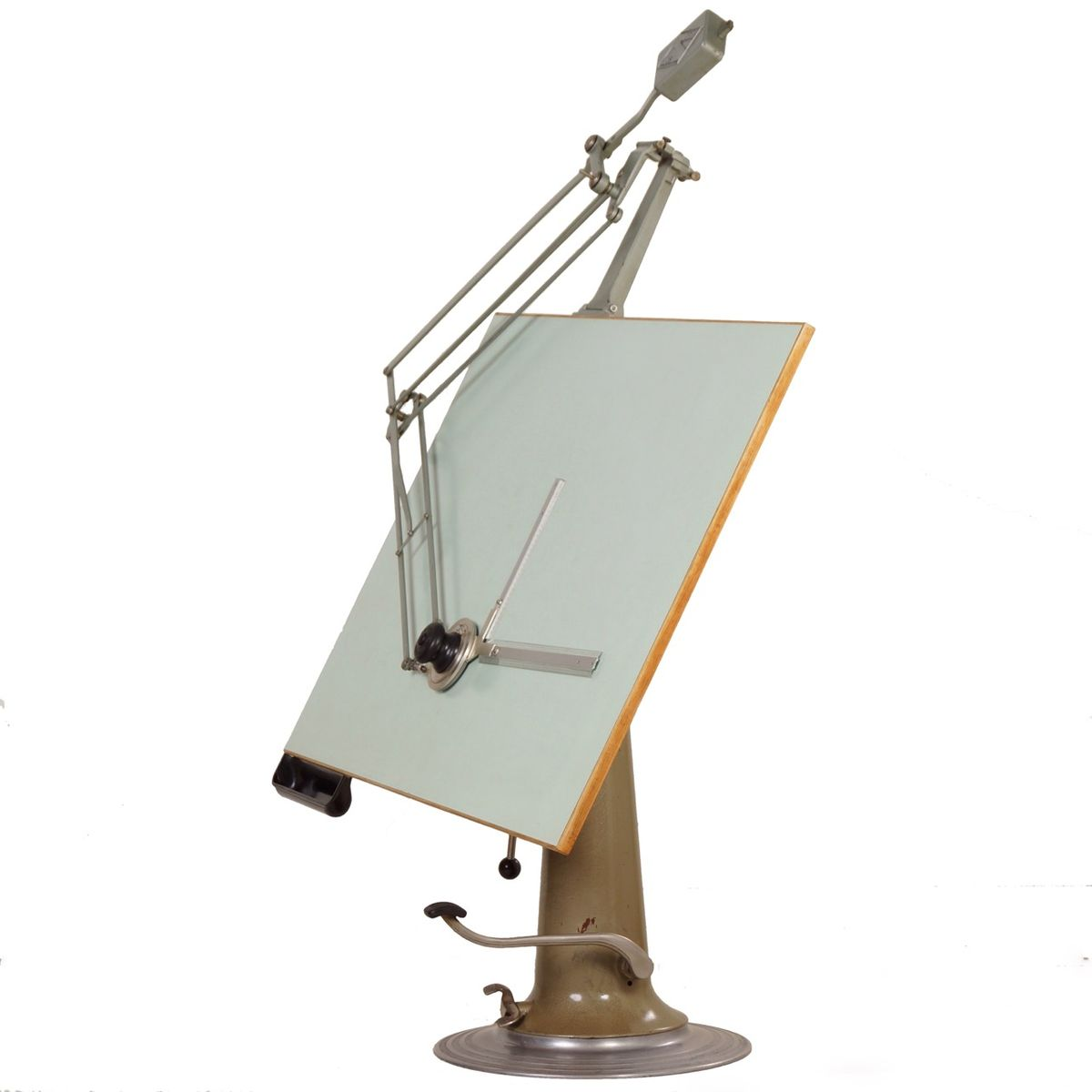 Industrial Drafting Table From Nike Hydraulics 1950s For
