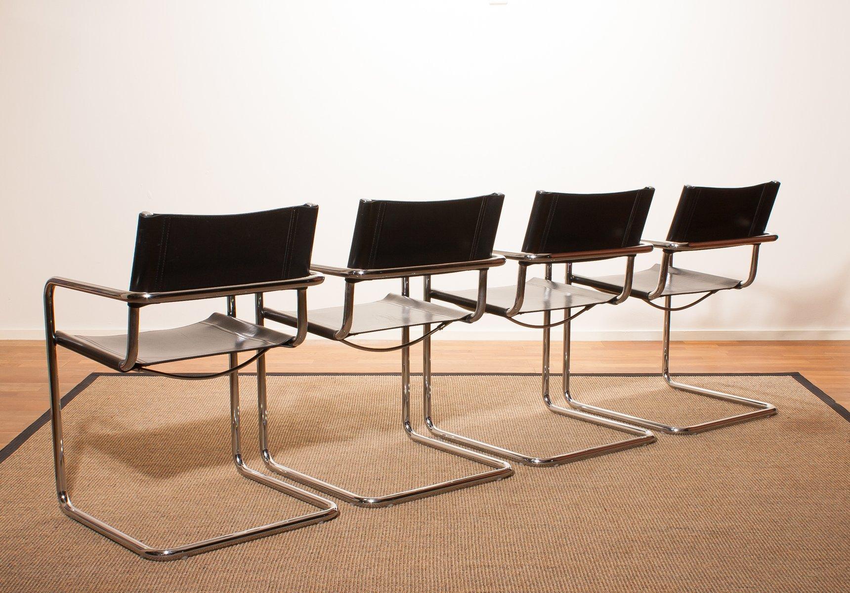 esszimmerst hle von matteo grassi 1970er 4er set bei pamono kaufen. Black Bedroom Furniture Sets. Home Design Ideas