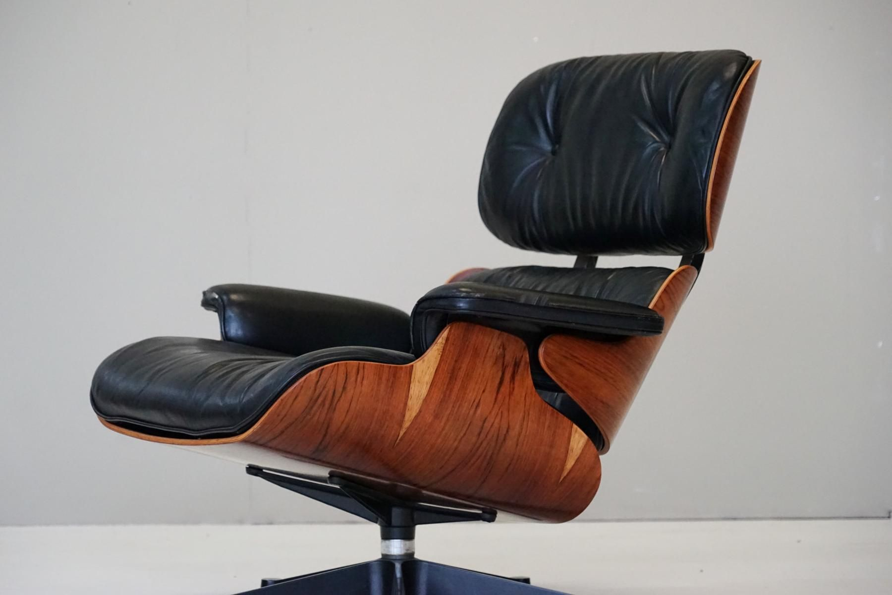 Leather Rosewood Lounge Chair by Charles Eames for Herman Miller