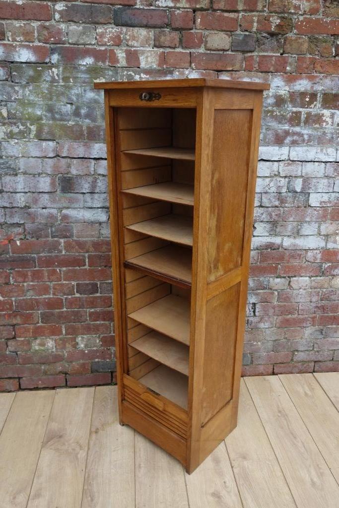 Vintage Industrial Oak Filing Cabinet for sale at Pamono