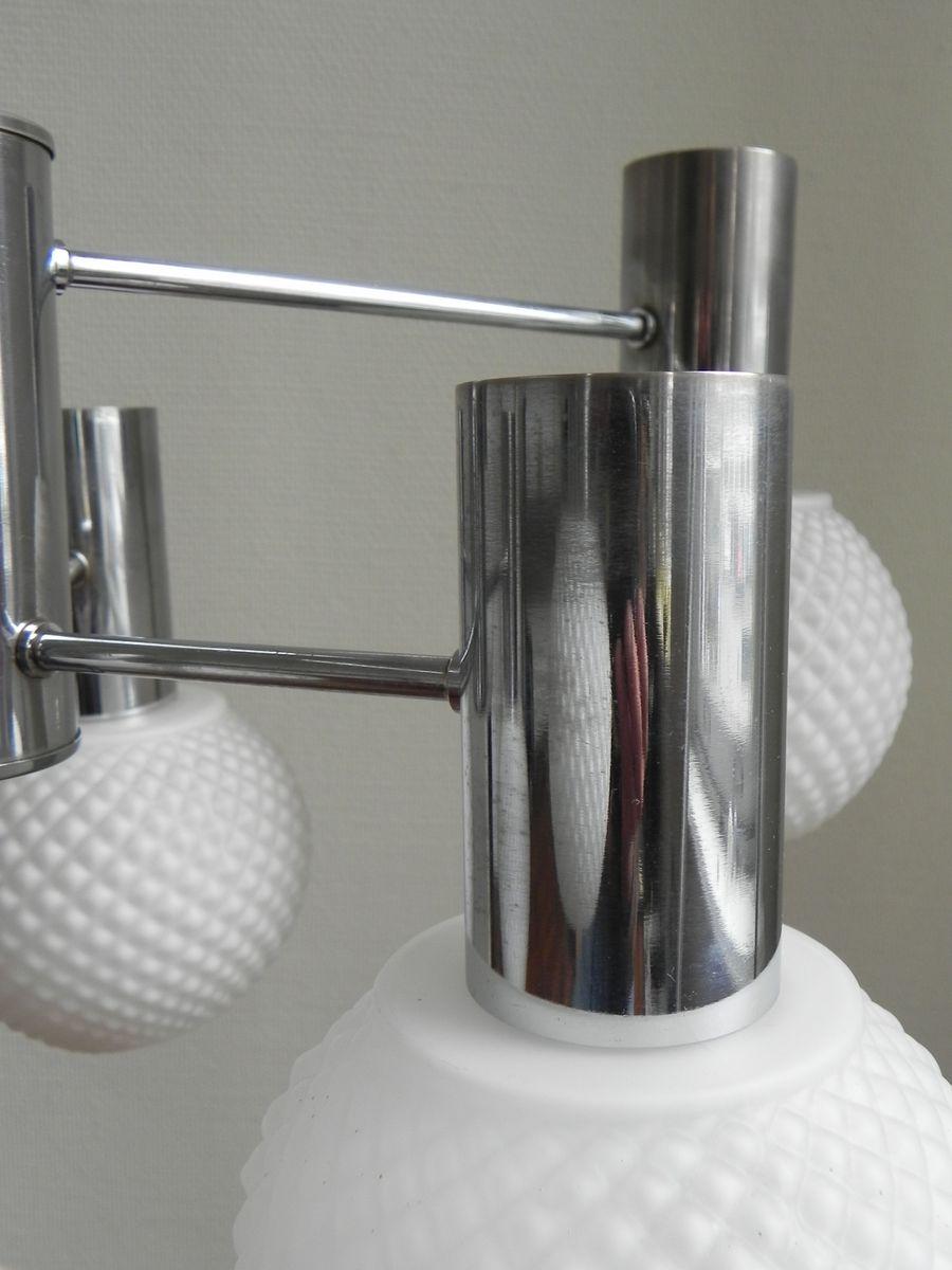 vintage h ngelampe mit 6 glaskugeln bei pamono kaufen. Black Bedroom Furniture Sets. Home Design Ideas