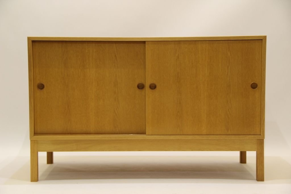 Mid-Century Oak Sound Cabinet by Borge Mogensen for Karl Andersson ...