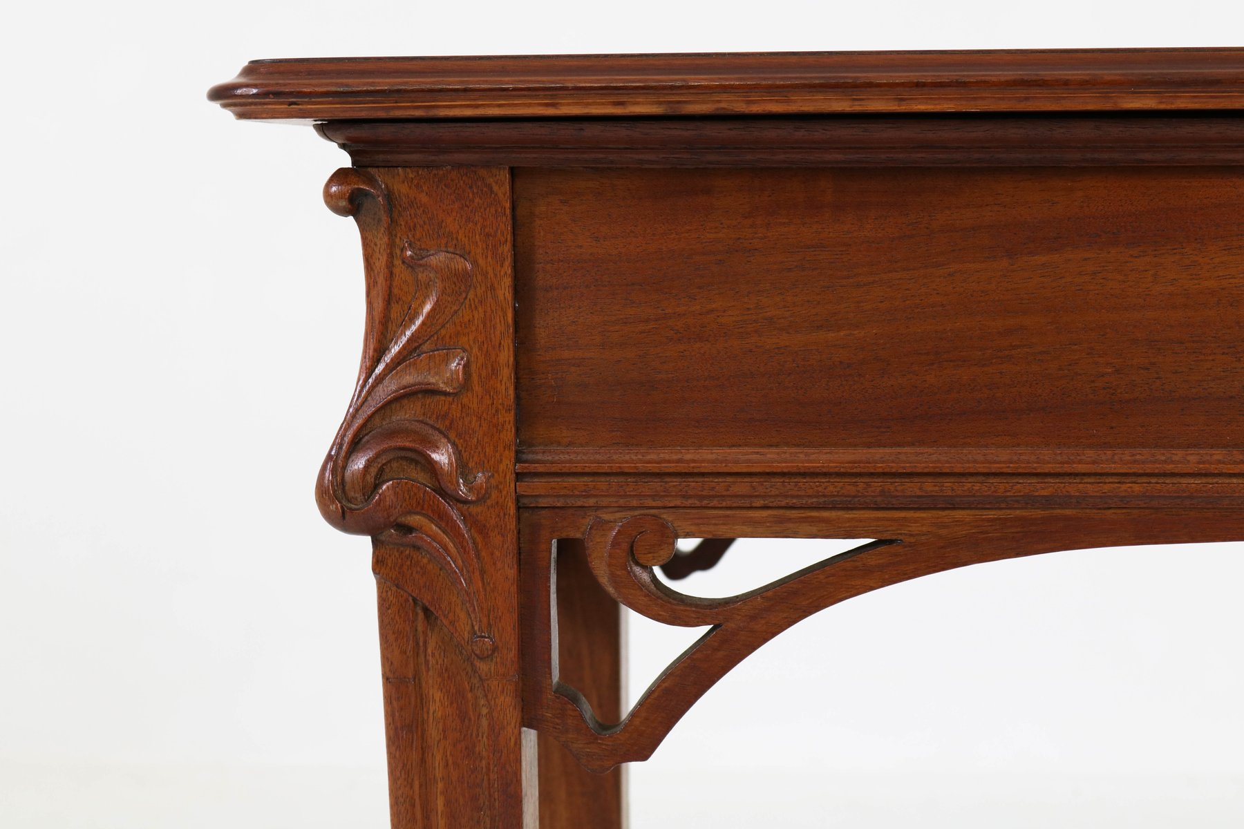 french art nouveau mahogany console table 1900s for sale at pamono. Black Bedroom Furniture Sets. Home Design Ideas