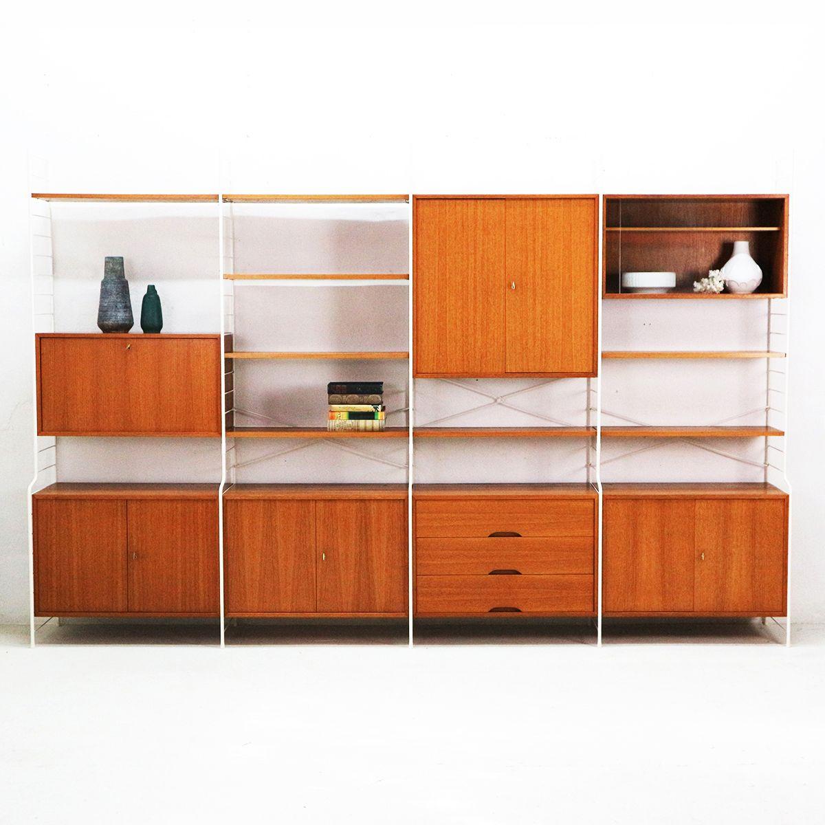 wei es teak regal von whb 1960er bei pamono kaufen. Black Bedroom Furniture Sets. Home Design Ideas