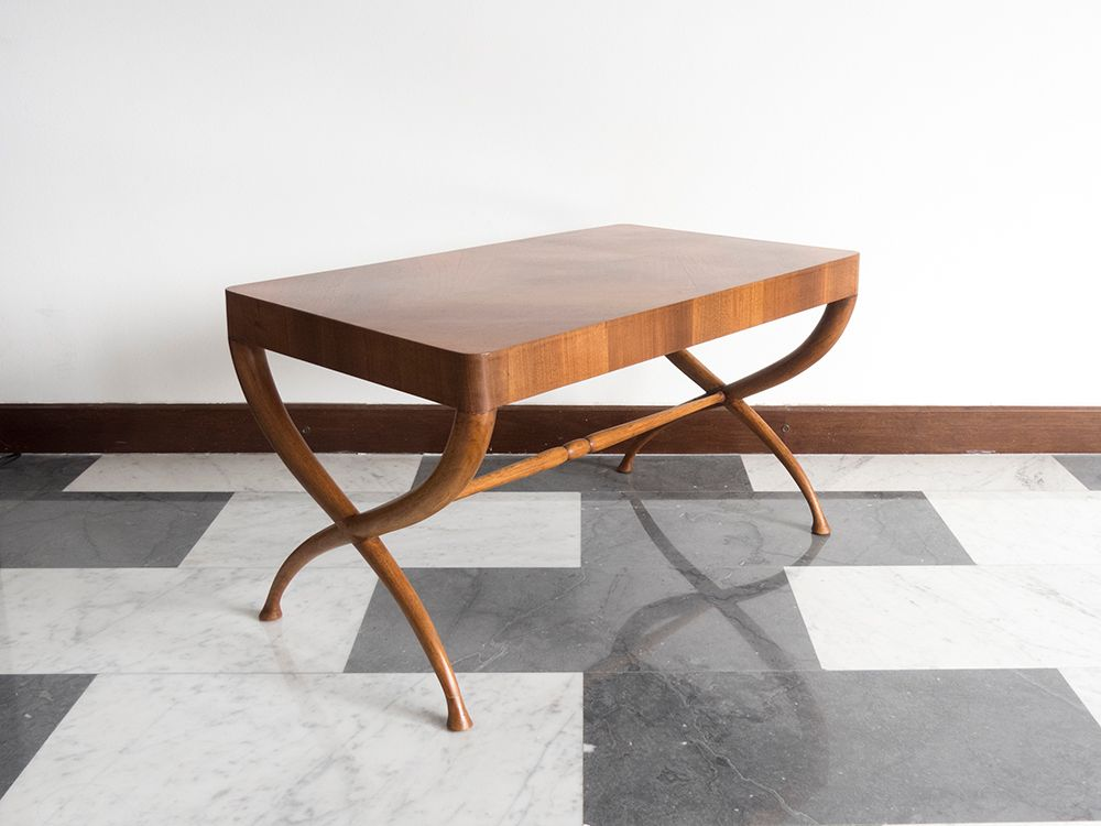 Architectural italian wooden coffee table 1940s for sale for Architectural coffee table