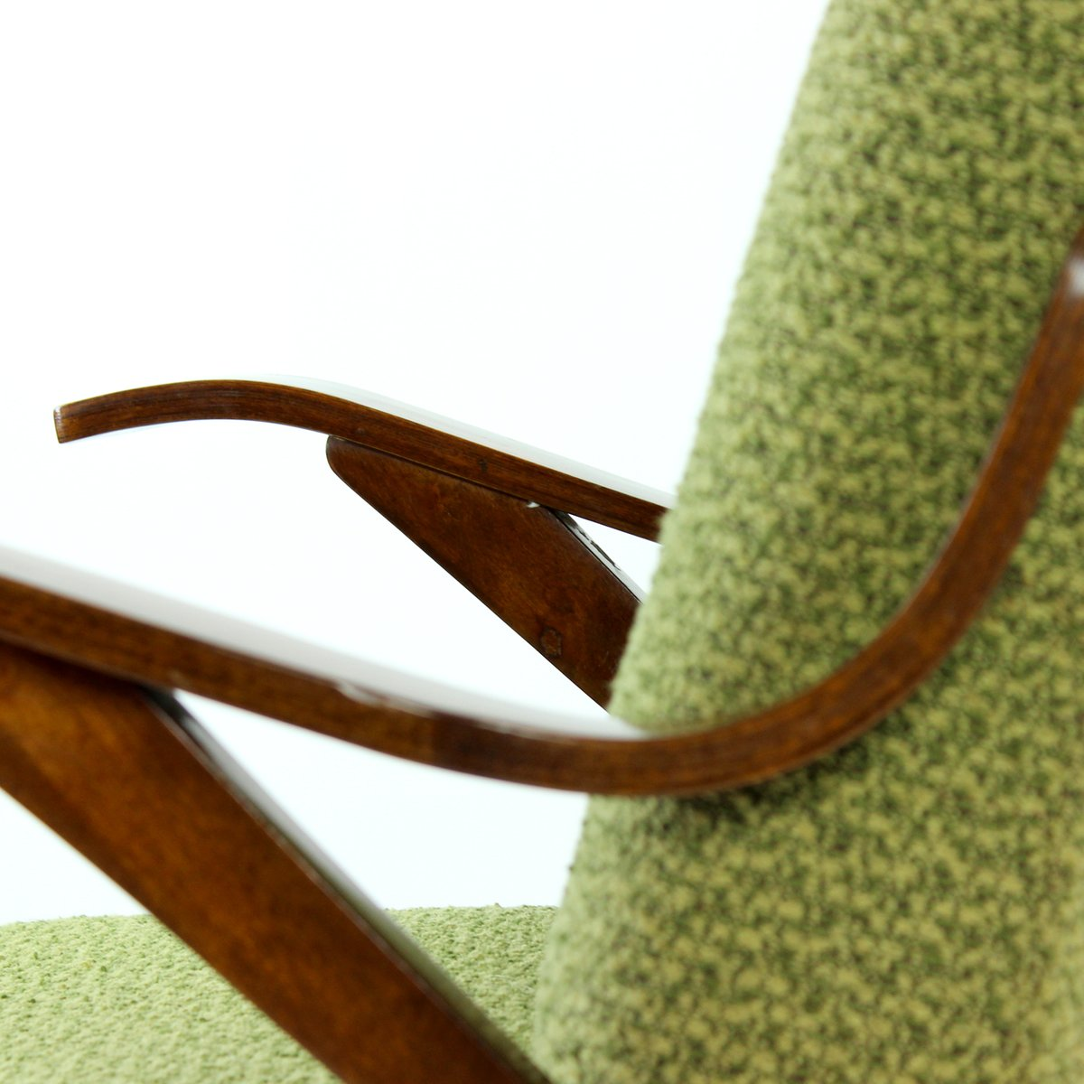 Bentwood lounge chair - Green Bentwood Lounge Chair From Mier 1960s