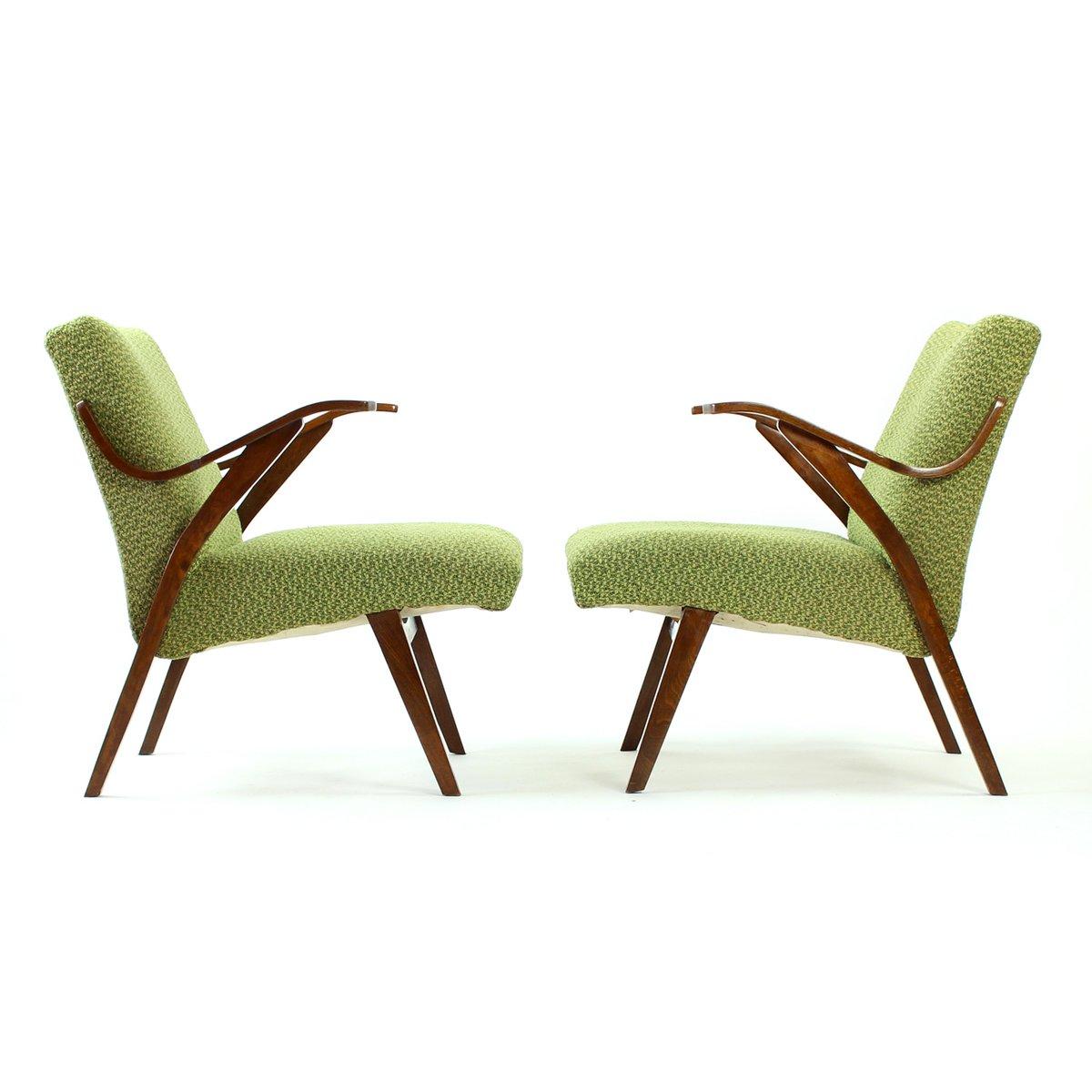 gr ner bugholz sessel von mier 1960er bei pamono kaufen. Black Bedroom Furniture Sets. Home Design Ideas