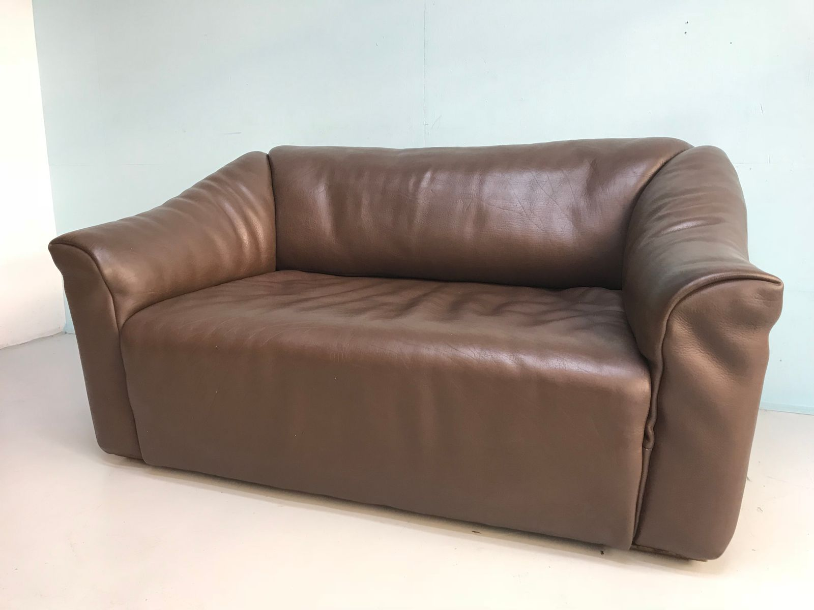 braunes ds 47 vintage sofa von de sede 1970er bei pamono. Black Bedroom Furniture Sets. Home Design Ideas
