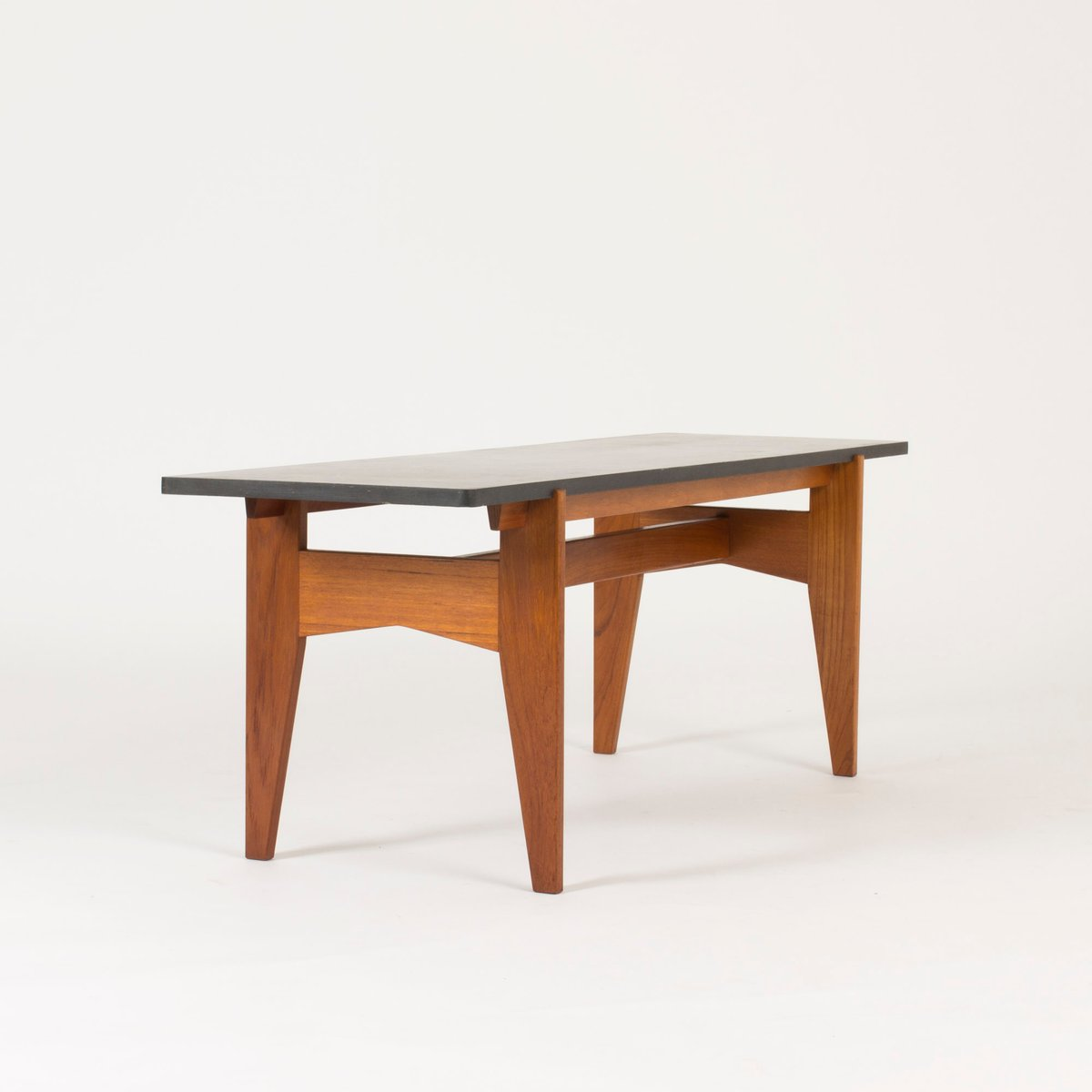 Teak And Black Marble Coffee Table By Hans Agne Jakobsson 1950s For Sale At Pamono