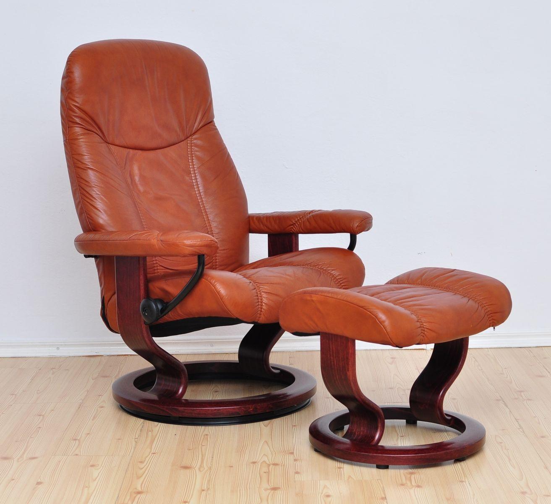 consul lounge chair u0026 ottoman from stressless ekornes 1980s