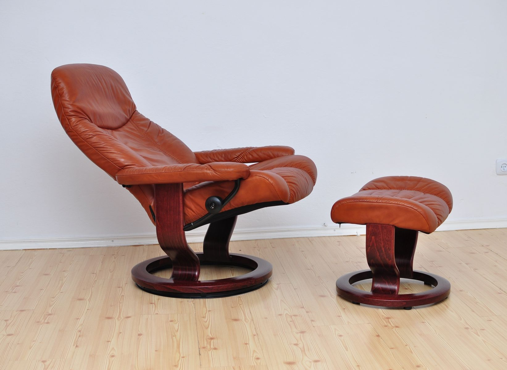 Consul Lounge Chair & Ottoman from Stressless Ekornes 1980s for