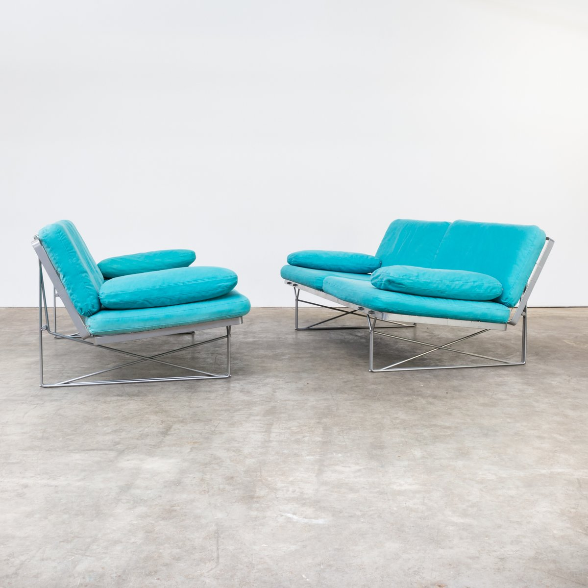 Moment sofas by niels gammelgaard for ikea 1985 set of 2 for sale at pamono Ikea moment sofa