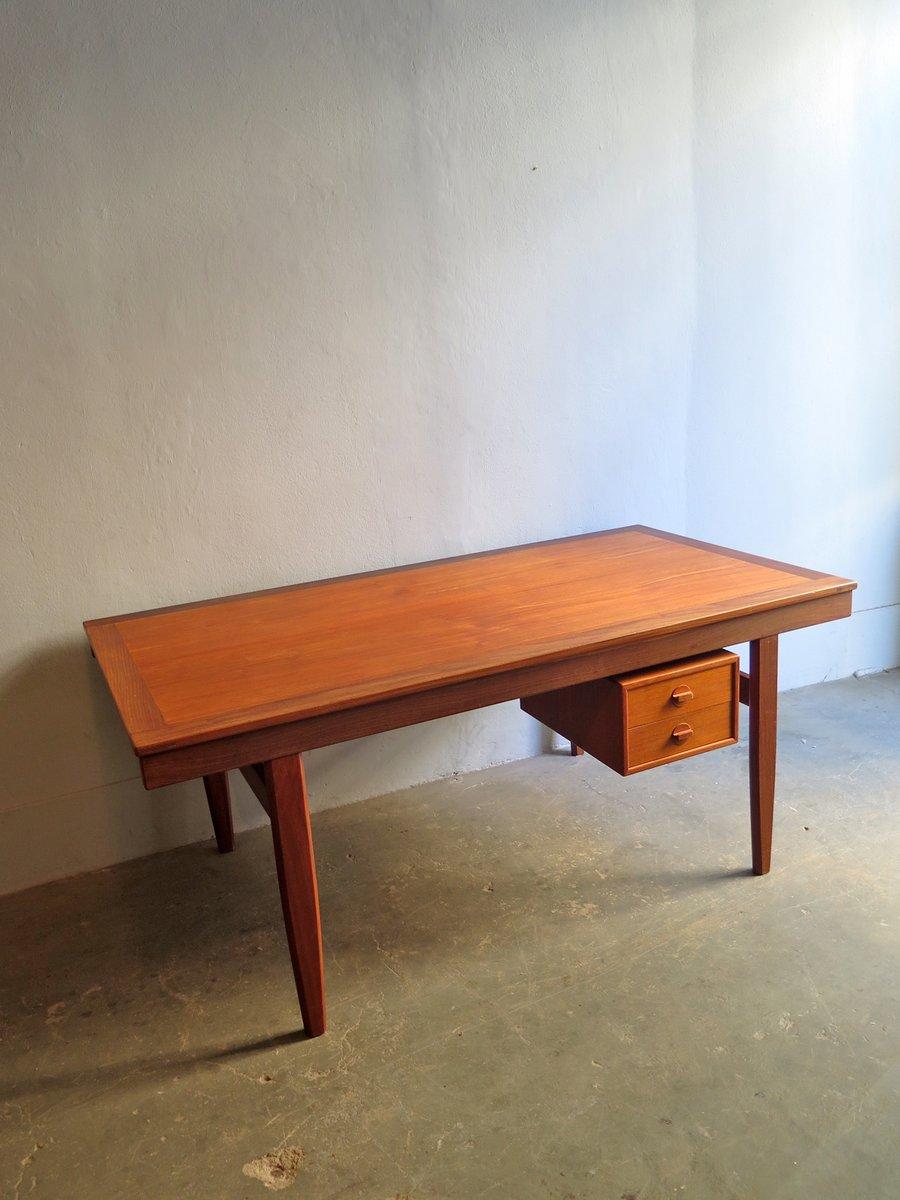 d nischer vintage teak schreibtisch bei pamono kaufen. Black Bedroom Furniture Sets. Home Design Ideas