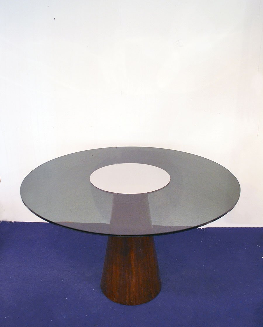 Italian Dining Table with Conical Foot in Rosewood and  : italian dining table with conical foot in rosewood and smoked glass 1970s 3 from www.pamono.com size 900 x 1118 jpeg 57kB