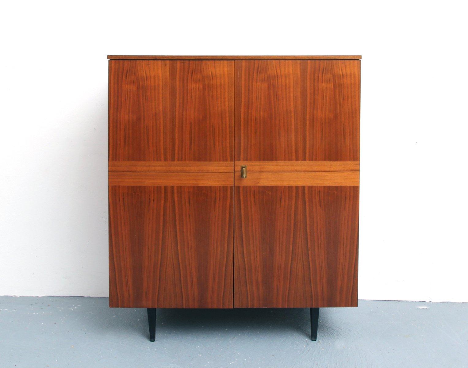 Walnut veneer cabinet 1950s