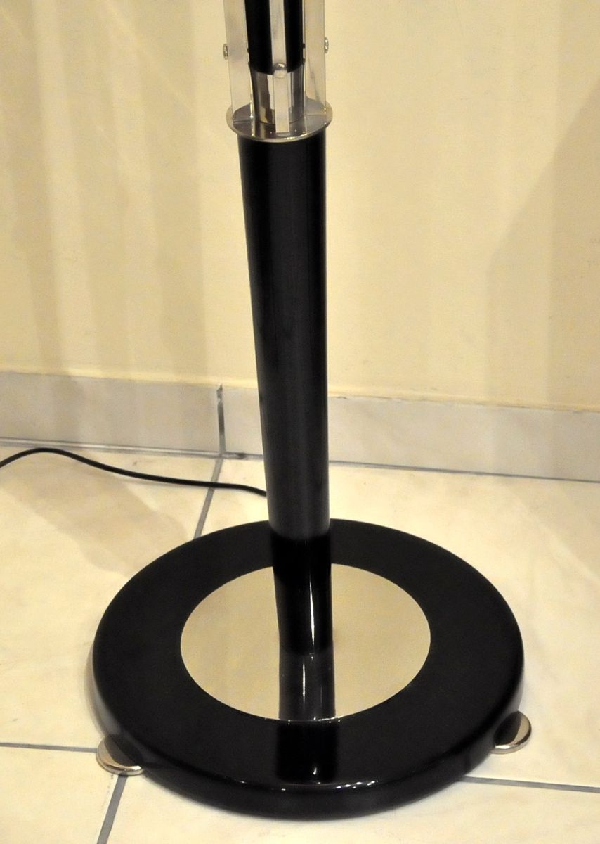 Art deco black lacquer alabaster floor lamp 1930s for for 1930s floor lamp