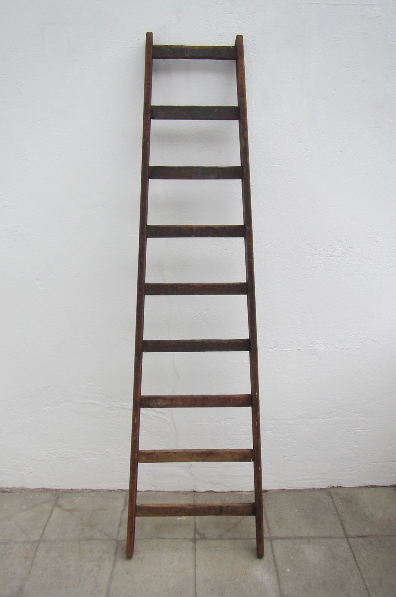 Industrial Wooden Ladder 1950s for sale at Pamono