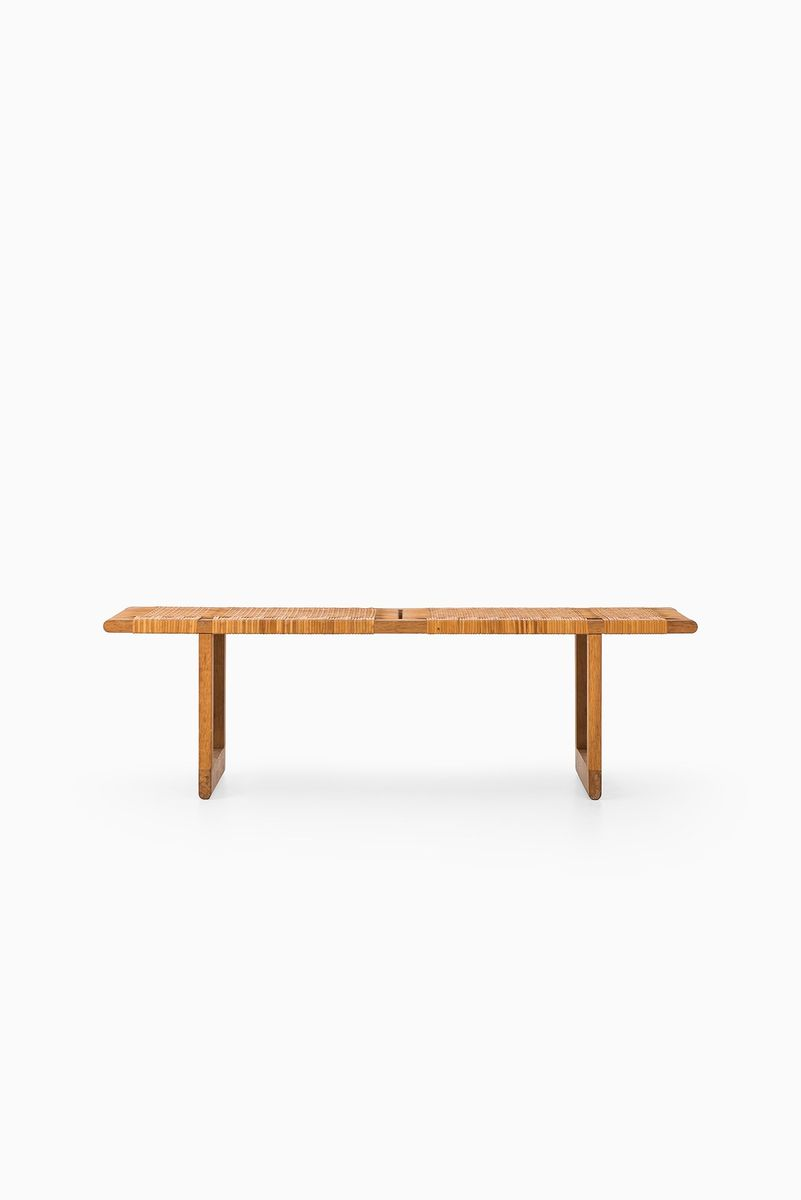 Mid century scandinavian oak bench by b rge mogensen for Oak bench