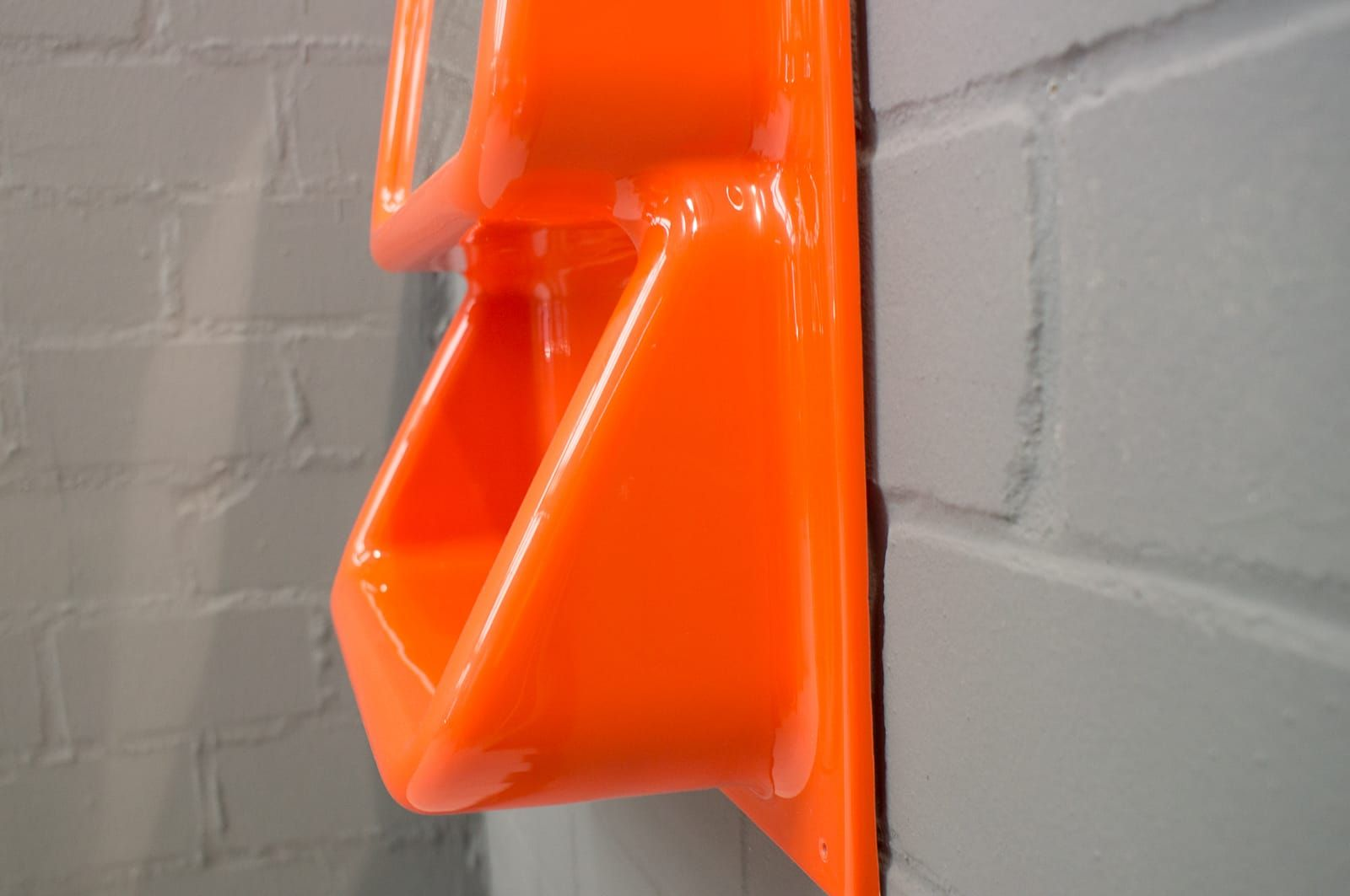 Orange space age wall mirror with shelf 1960s for sale at pamono orange space age wall mirror with shelf 1960s amipublicfo Gallery