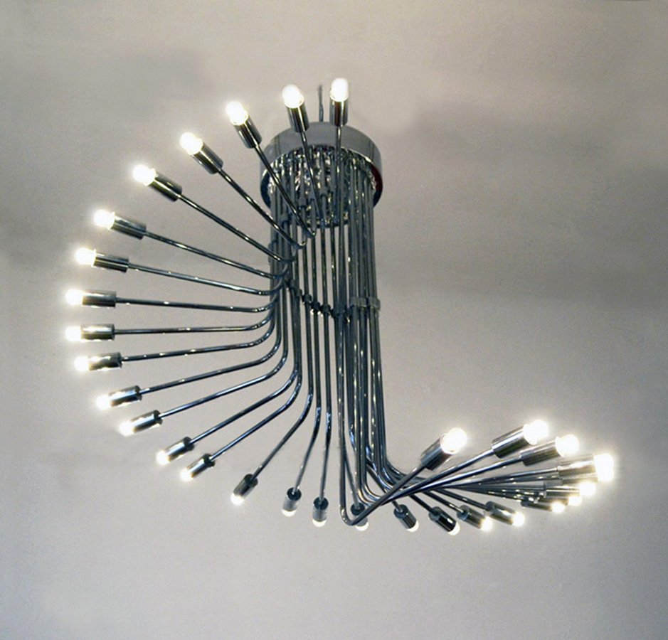 Chandelier by Ingo Maurer for Design M, 1960s for sale at Pamono