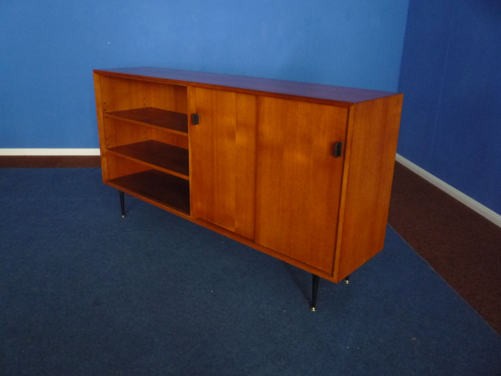 teak sideboard from wk m bel 1960s for sale at pamono. Black Bedroom Furniture Sets. Home Design Ideas