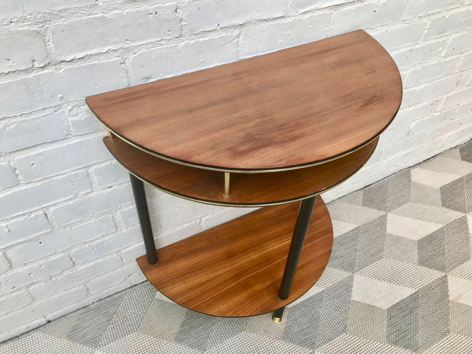 halbrunder vintage beistelltisch bei pamono kaufen. Black Bedroom Furniture Sets. Home Design Ideas