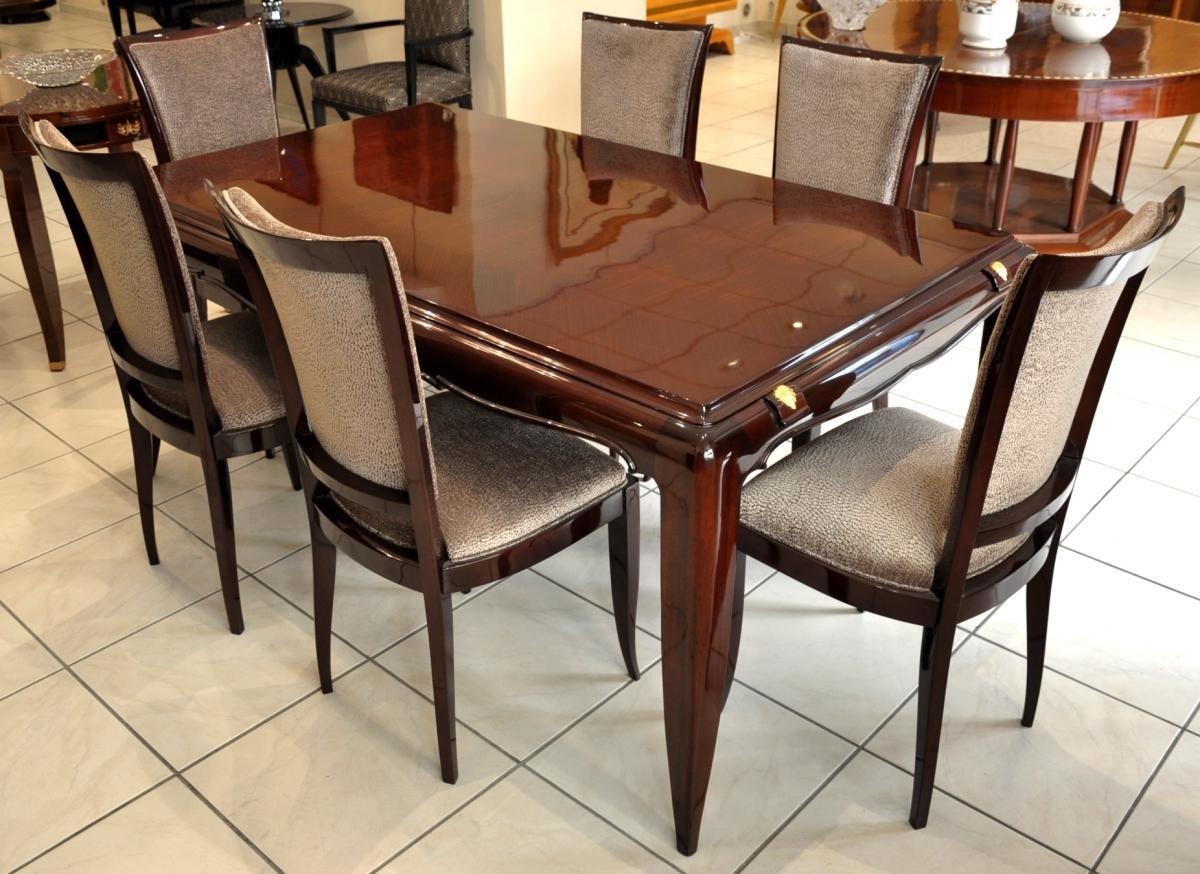 Dining Table Set By Jean Desnos 1940s Set Of 7 En Vente Sur Pamono