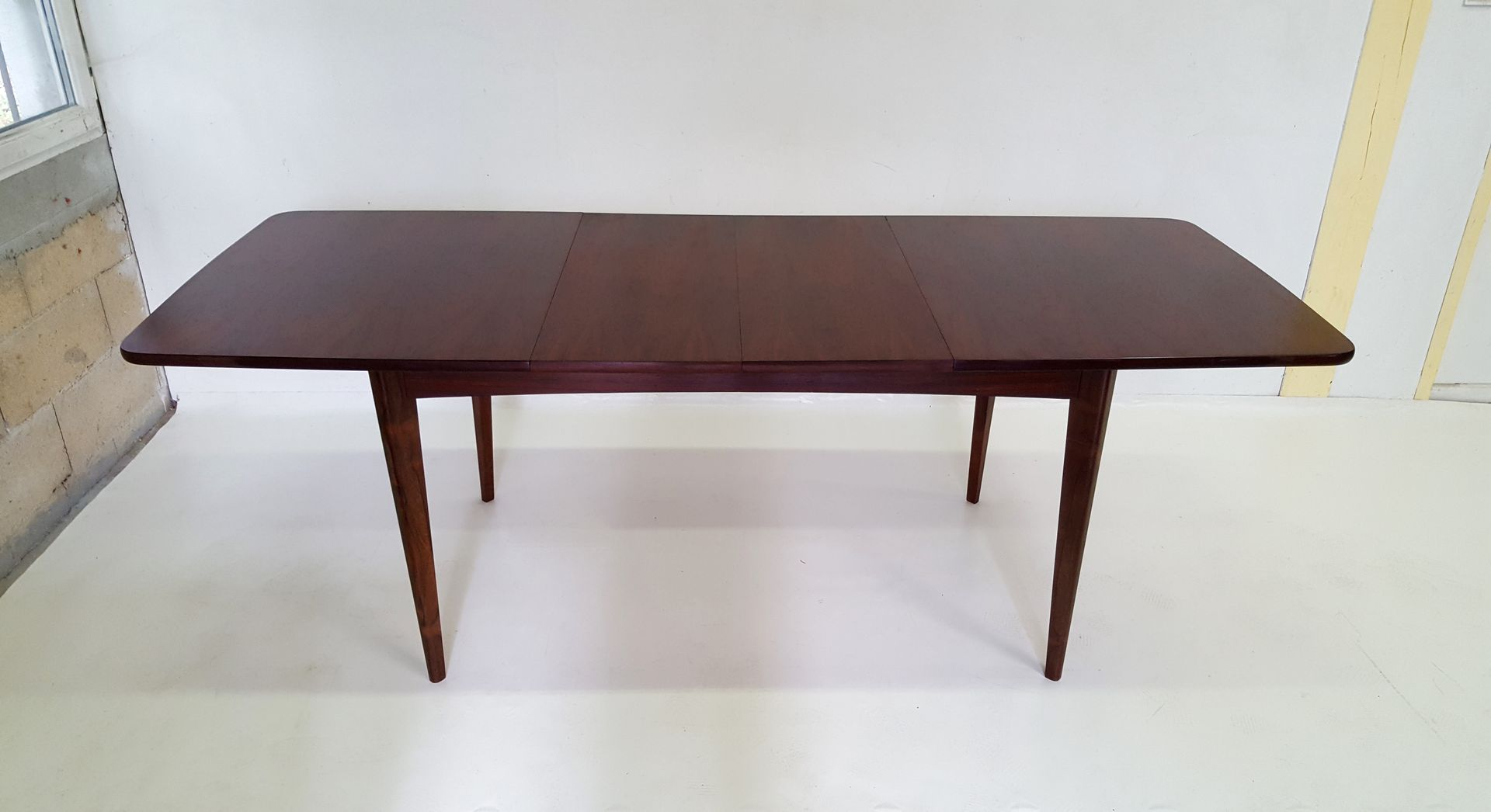 Scandinavian dining table in rosewood 1960s for sale at pamono - Dining table scandinavian ...