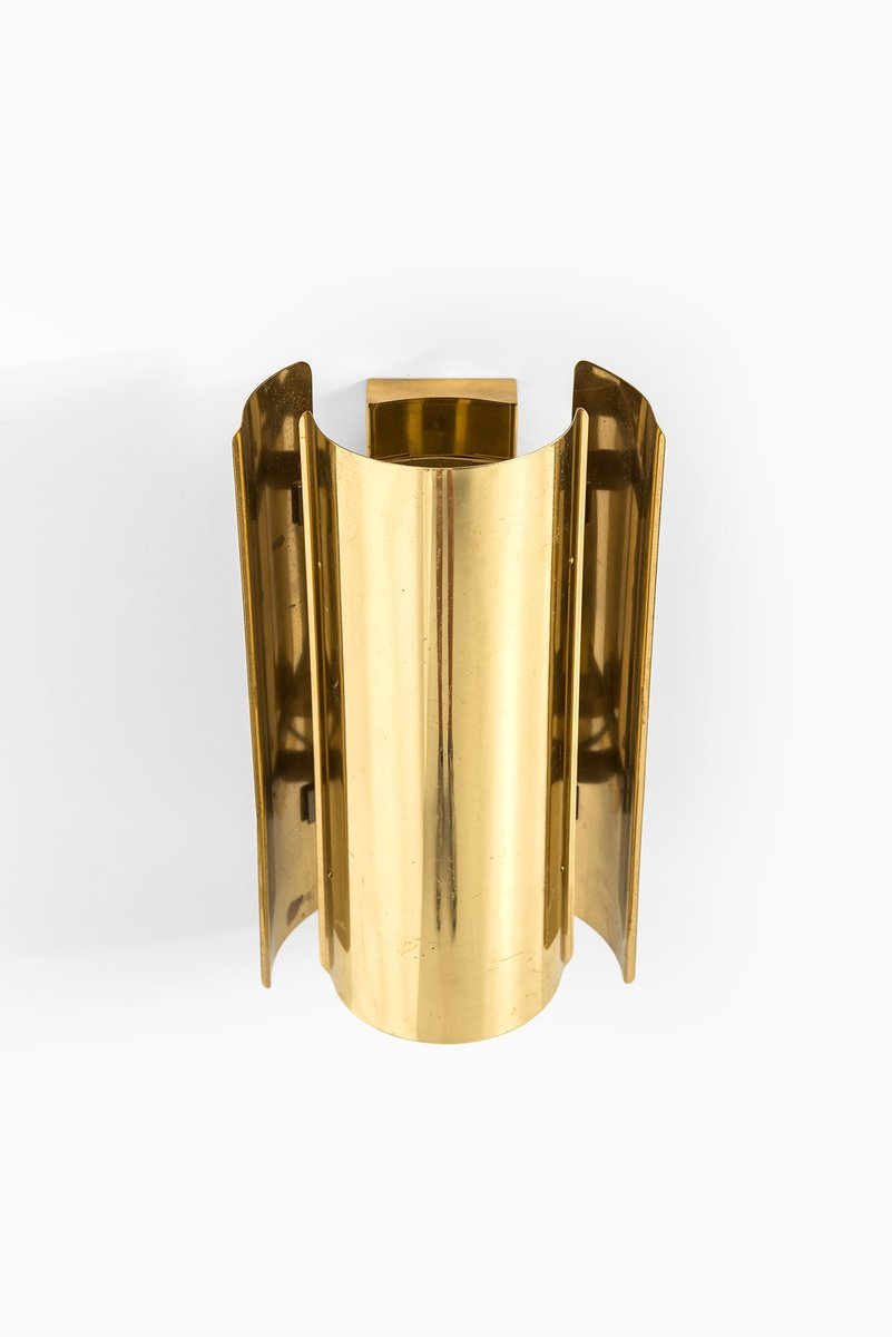 Vintage Brass Wall Lamps : Vintage Brass Wall Lamp from Falkenbergs Belysnings, 1970s for sale at Pamono