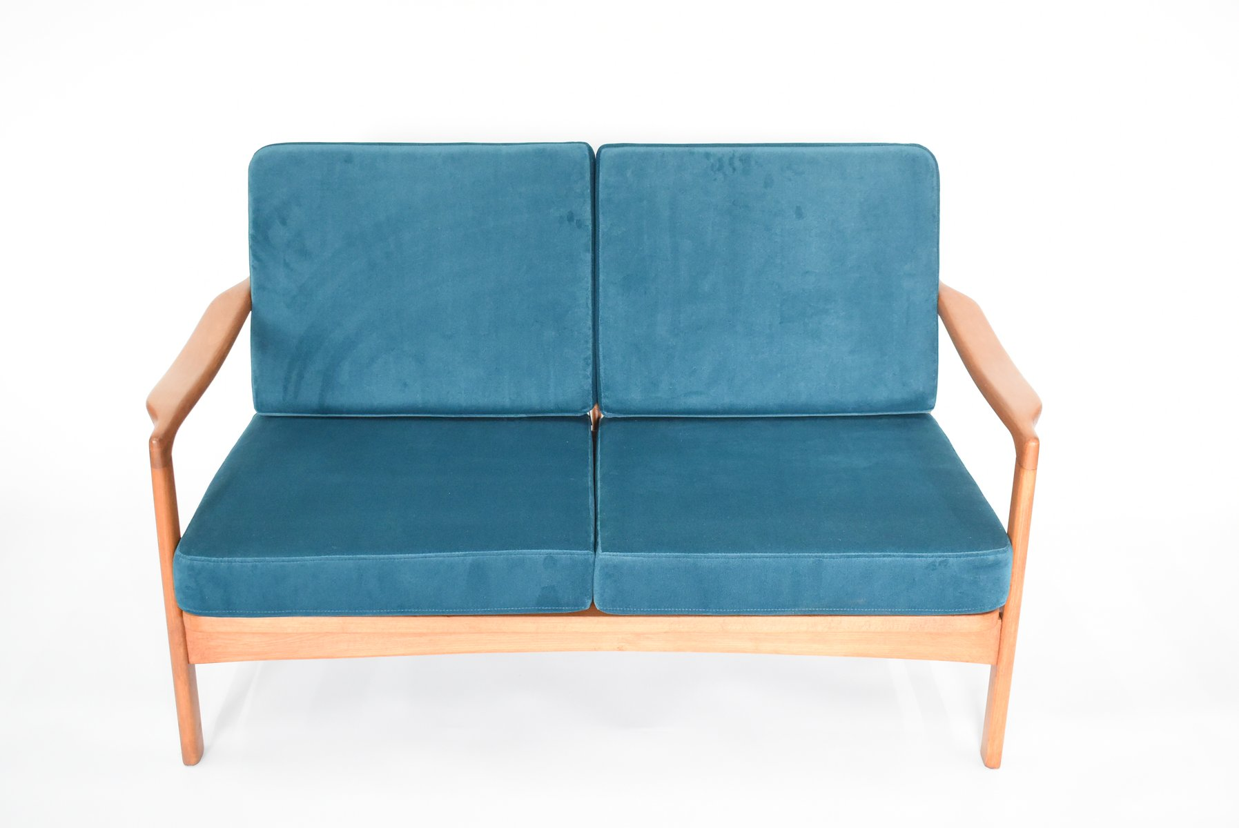 Vintage Blue BB522 Soviet Sofa for sale at Pamono