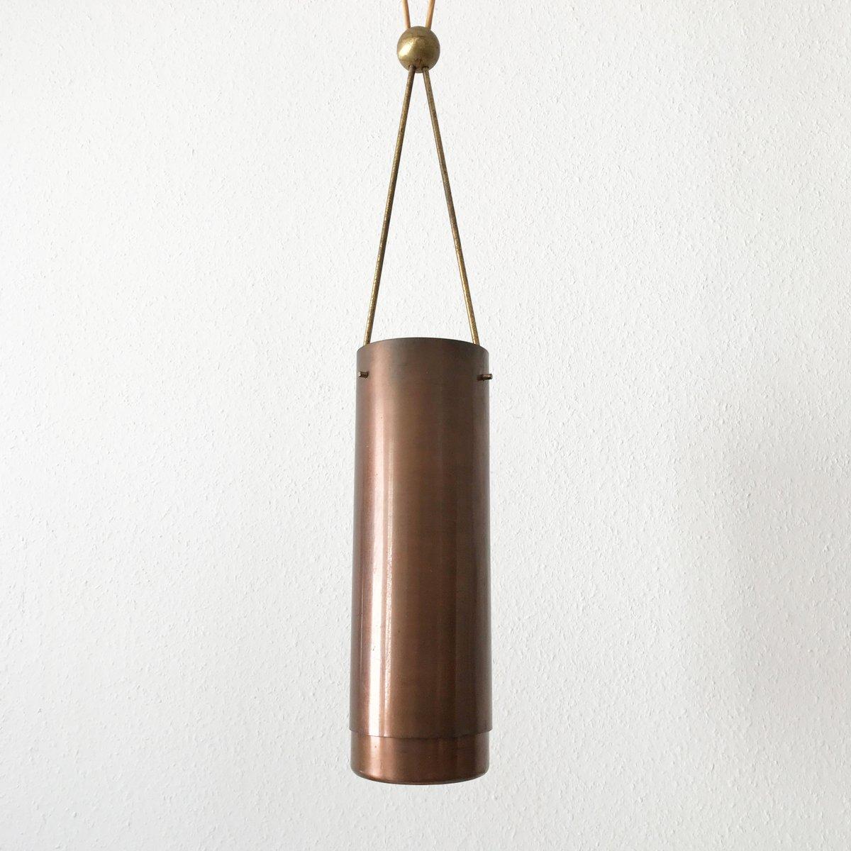 zylindrische mid century modern h ngelampe 1950er bei. Black Bedroom Furniture Sets. Home Design Ideas