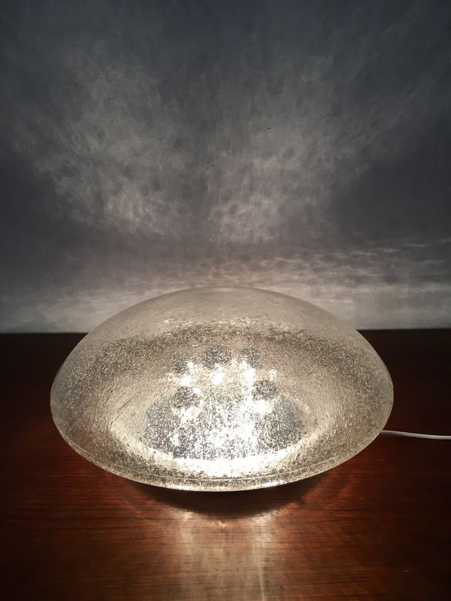Large glass wall light from hillebrand lighting 1970s for for Large glass wall