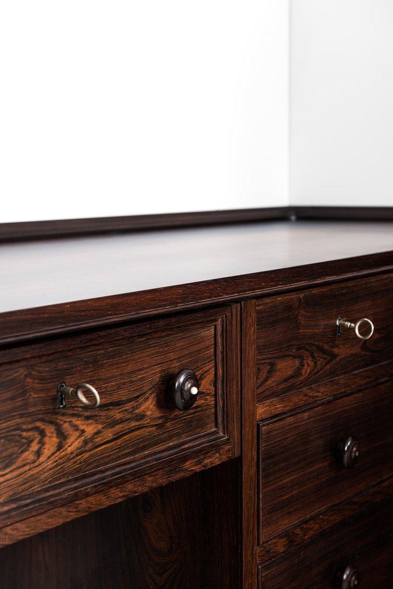 mid century corner desk storage unit by frode holm. Black Bedroom Furniture Sets. Home Design Ideas