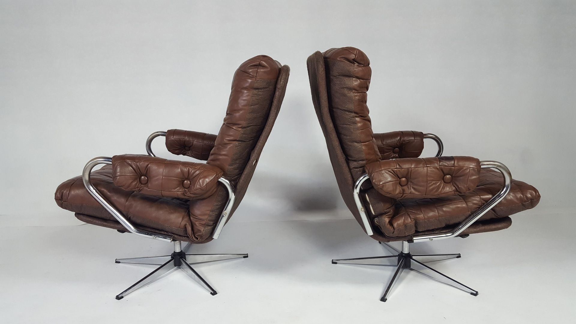 swivel chairs for sale vintage leather swivel chair set of 2 for at pamono 5964