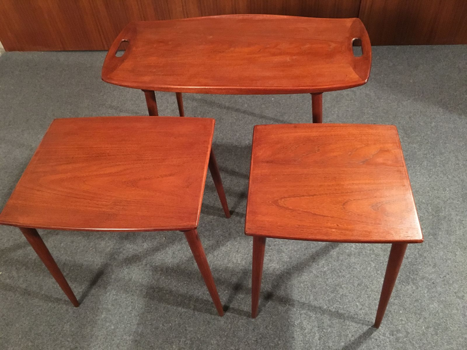 tables gigognes vintage par jens quistgaard en vente sur pamono. Black Bedroom Furniture Sets. Home Design Ideas