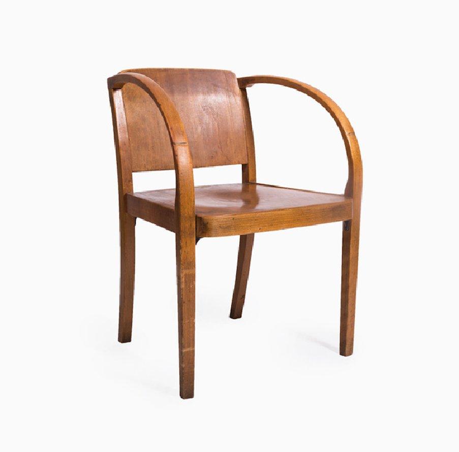 bugholz armlehnstuhl von thonet 1960er bei pamono kaufen