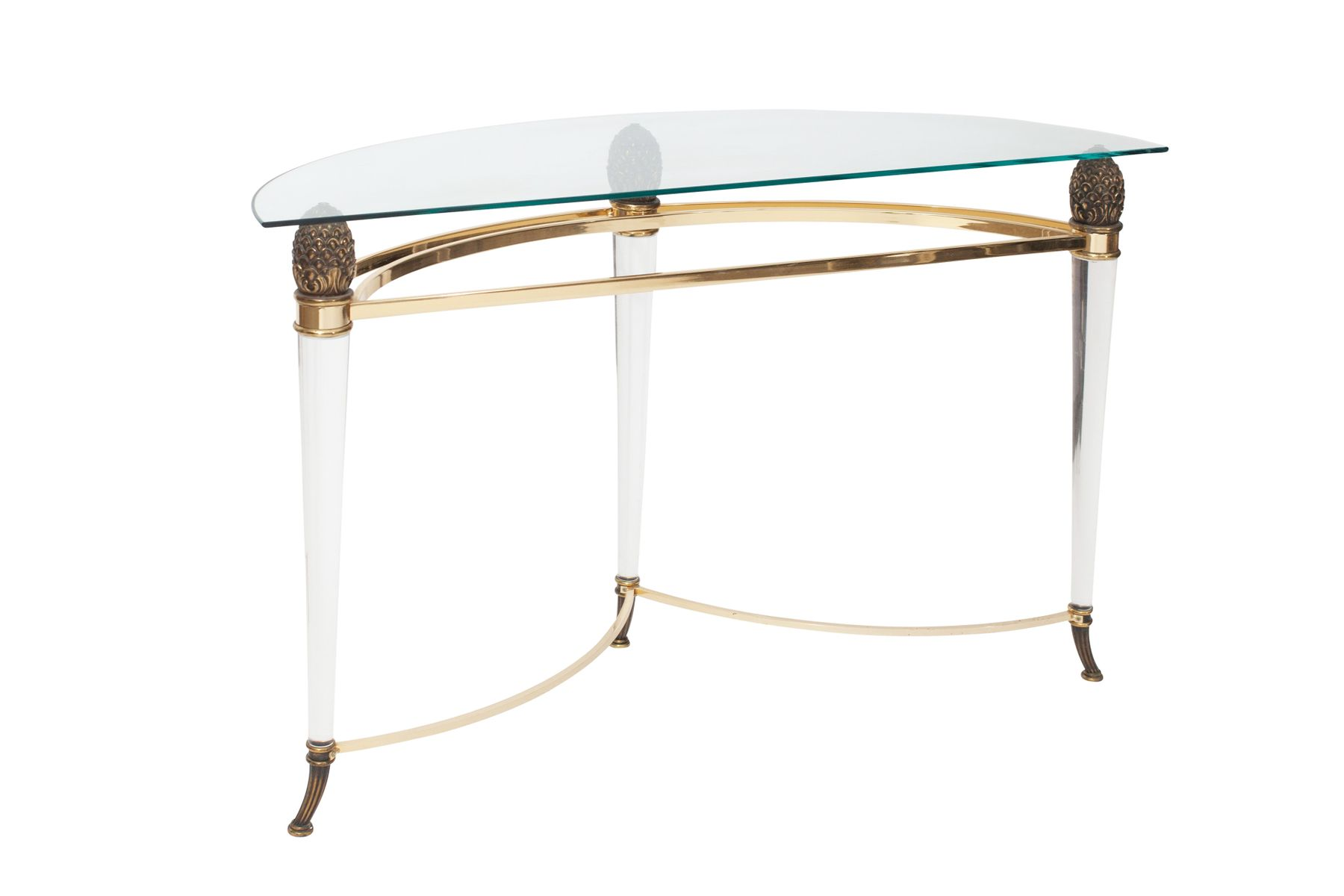 Vintage console table from maison jansen 1970s for sale for Sofa table rules