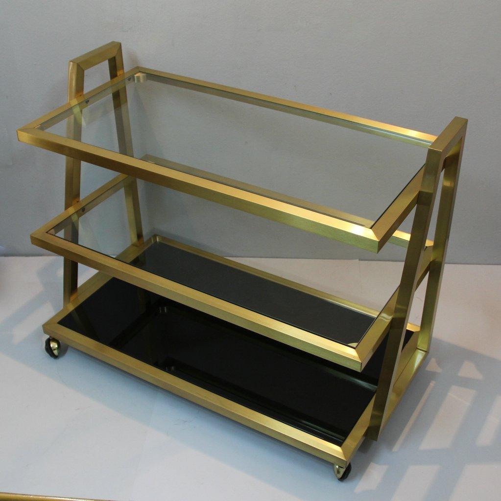 beistelltisch auf rollen 1970er bei pamono kaufen. Black Bedroom Furniture Sets. Home Design Ideas