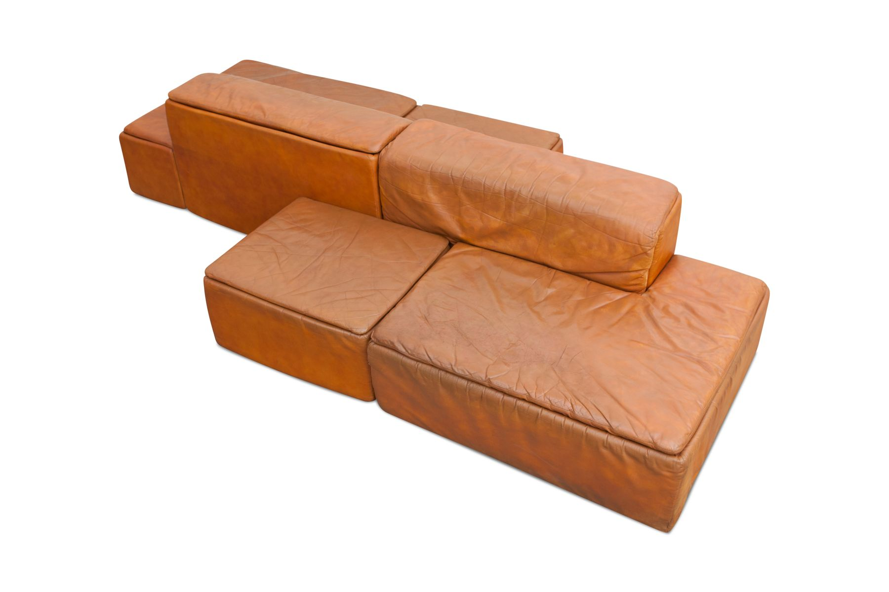 Paione Modular Leather Sofa By Claudio Salocchi For Sormani 1960s For Sale At Pamono