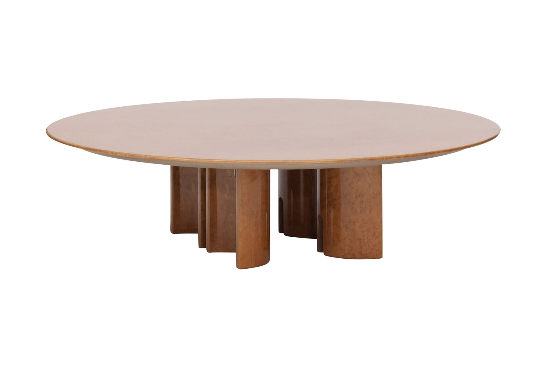 Round High Gloss Burl Coffee Table By Giovanni Offredi For Saporiti 1980s For Sale At Pamono
