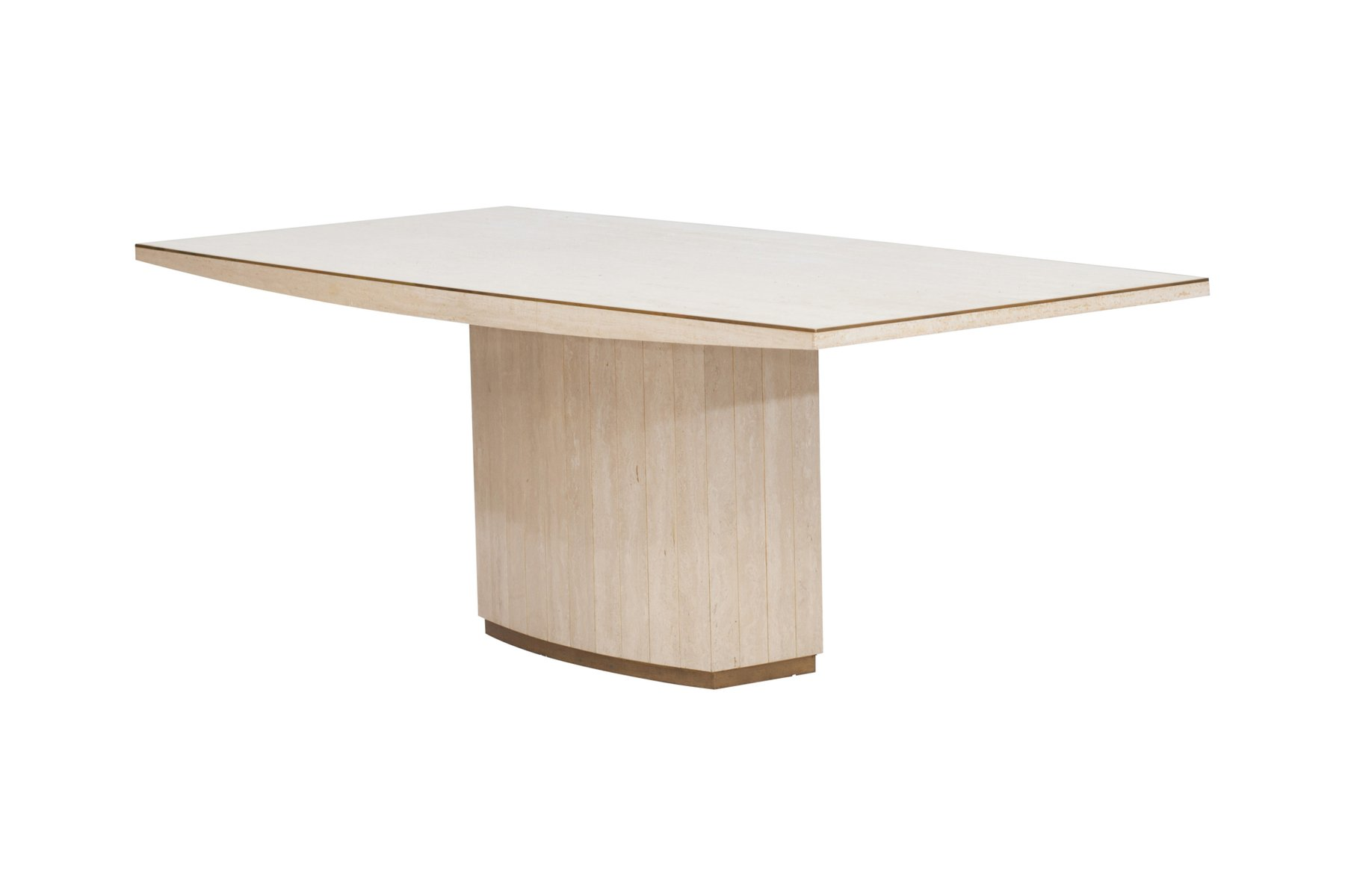Travertine dining table by willy rizzo 1970s for sale at for Table willy rizzo