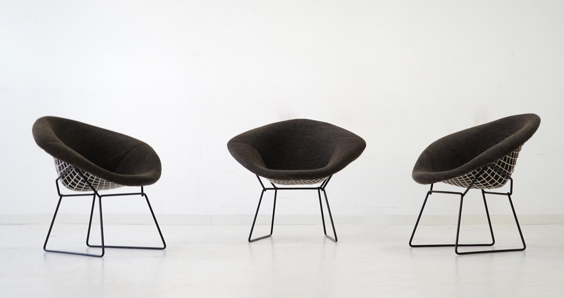 Diamond Wire Chairs by Harry Bertoia for Knoll International