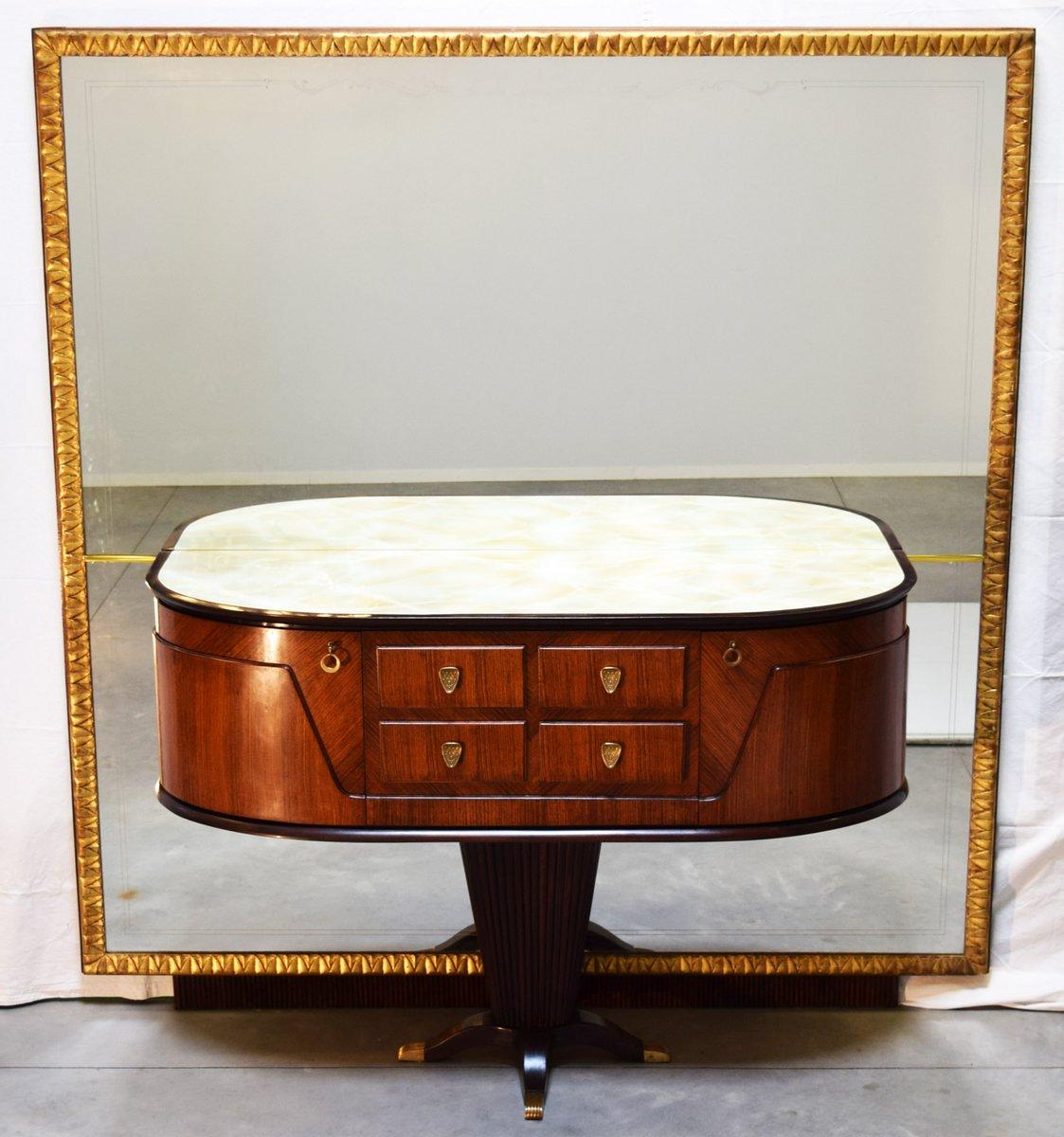 Consolle con specchio di Rima, Italia, anni \'50 in vendita su Pamono