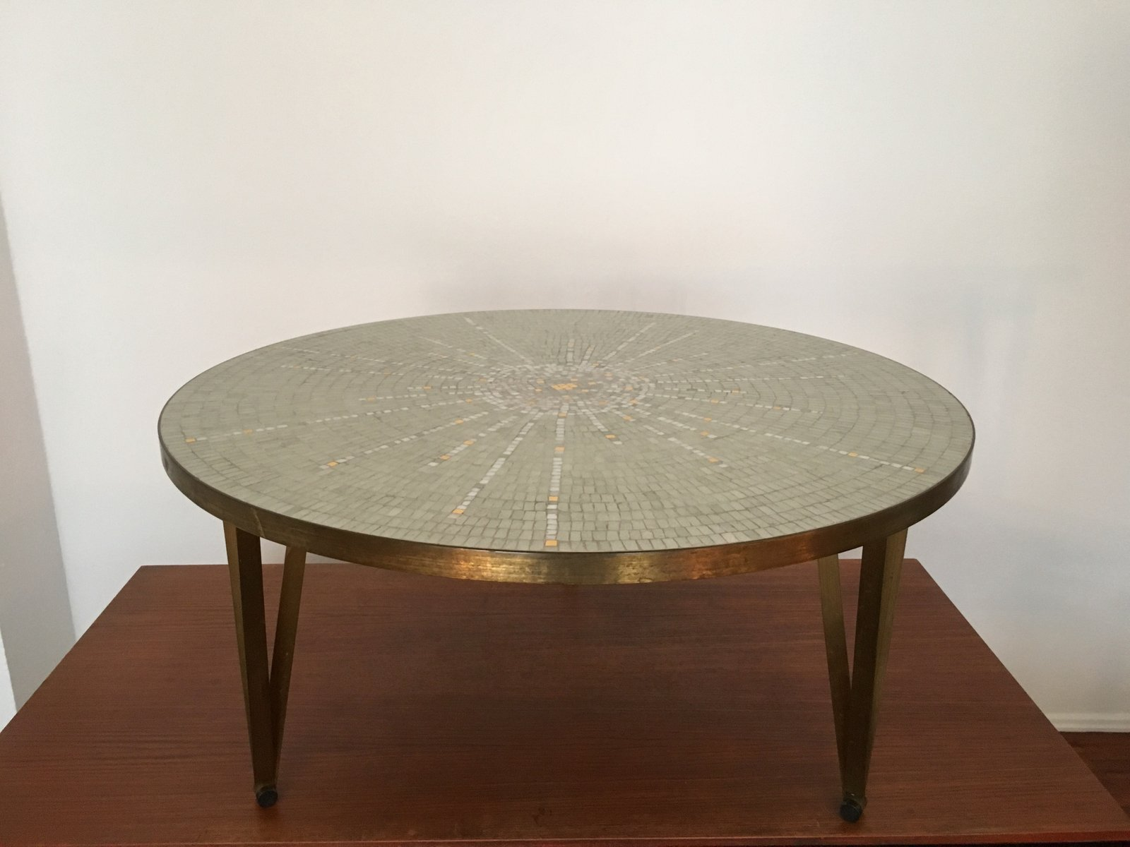 Glass Mosaic Coffee Table by Berthold Müller Oerlinghausen 1950s