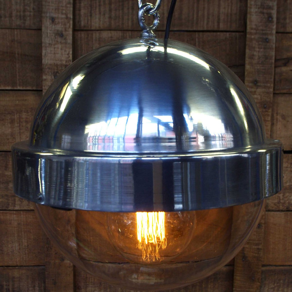 vintage spherical aluminum suspension lamp 1950s for sale at pamono. Black Bedroom Furniture Sets. Home Design Ideas