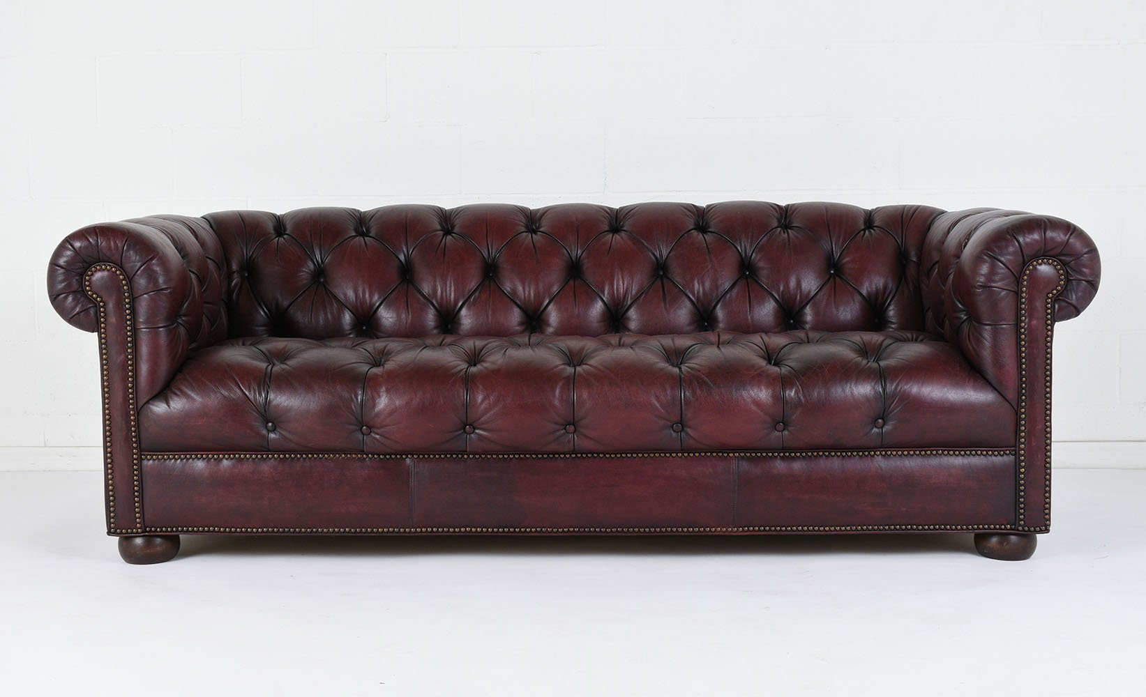 vintage tufted leather sofa 1970s for sale at pamono. Black Bedroom Furniture Sets. Home Design Ideas