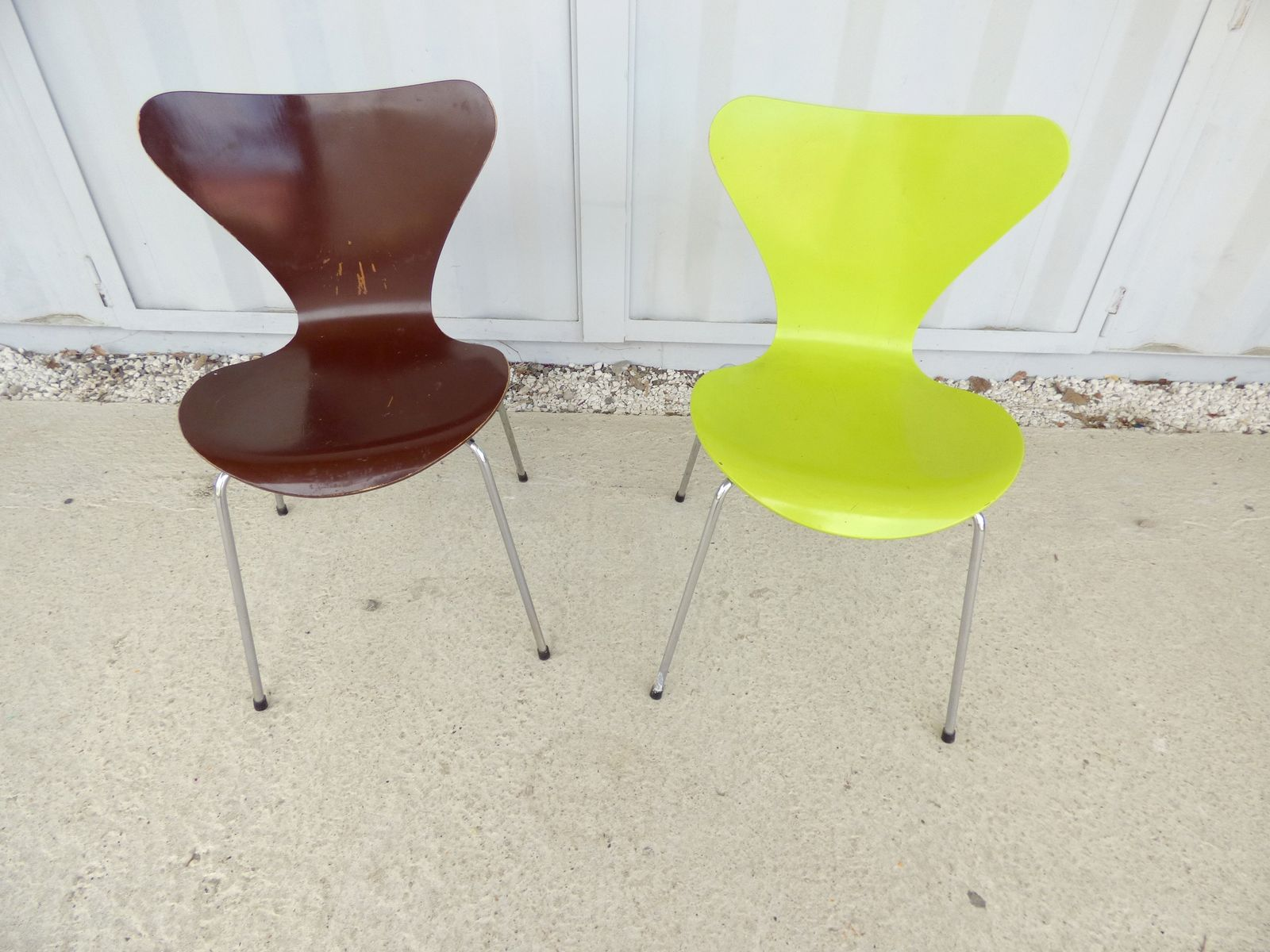 series 7 st hle von arne jacobsen f r fritz hansen 1985. Black Bedroom Furniture Sets. Home Design Ideas